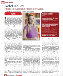 Rachel's article in PharmaVOICE