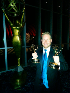 Michael with his two newest Emmy awards.