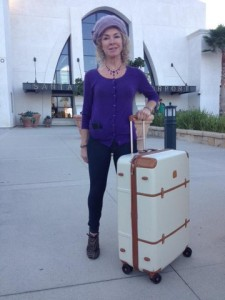 Gina with her new piece of luggage!